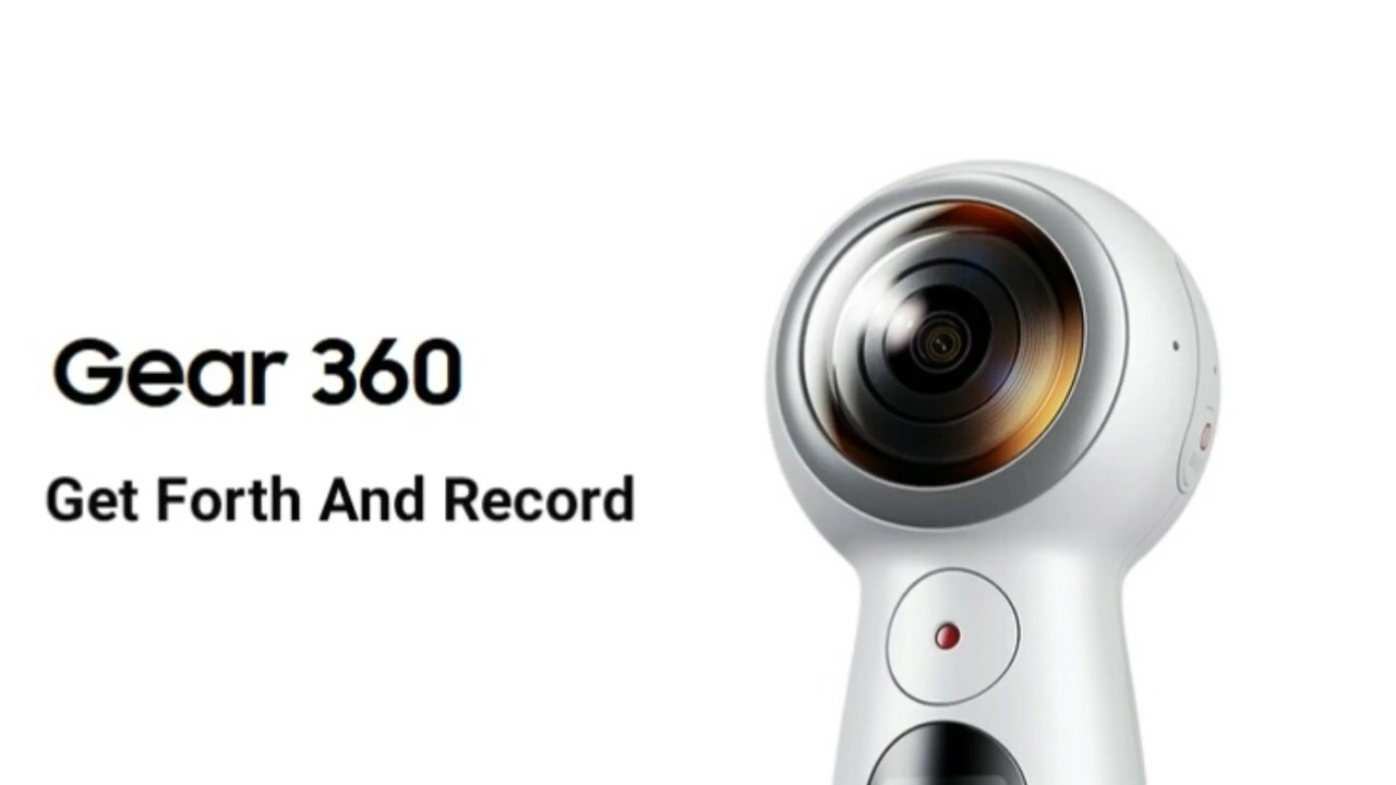 מבריק Samsung Gear 360 (2017 Edition) Real 360° 4K VR Camera (US Version CG-44